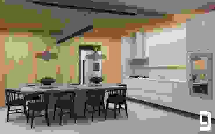 Cozinha e Jantar Lucas Gurgel Arquitetura Cozinhas modernas Madeira Rosa