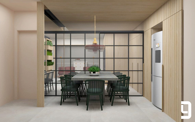 Cozinha Lucas Gurgel Arquitetura Cozinhas modernas Madeira Rosa