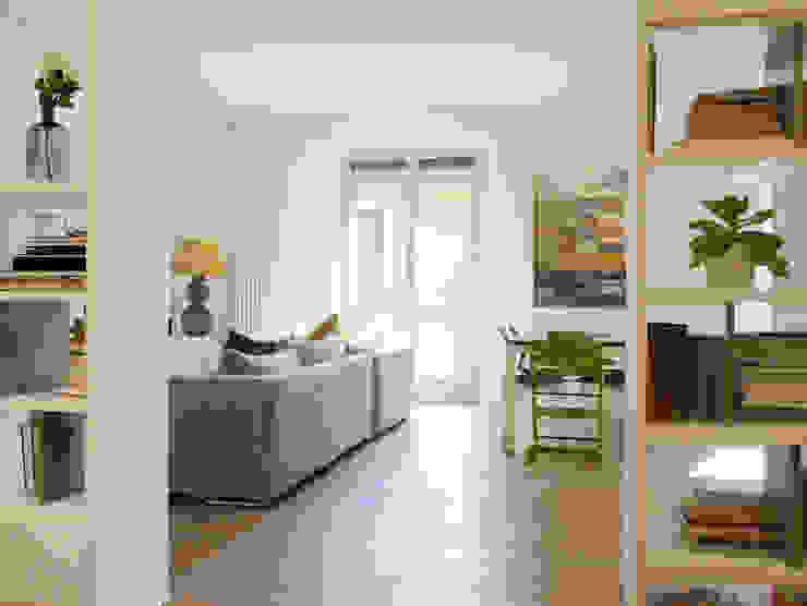Il soggiorno dall'ingresso studio di progettazione architetto caterina martini Soggiorno moderno