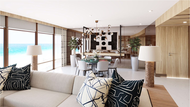 DEPARTAMENTO CANCUN Eclectic style dining room by CUARTO BLANCO Eclectic