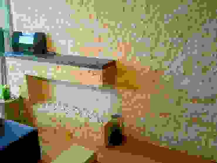 Salon rustique par Stonedeko Rustique Pierre
