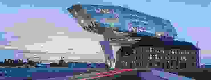 Zaha Hadid(札哈、哈蒂)事務所,在比利時的作品。 根據 德國旭格國際建材 工業風 玻璃
