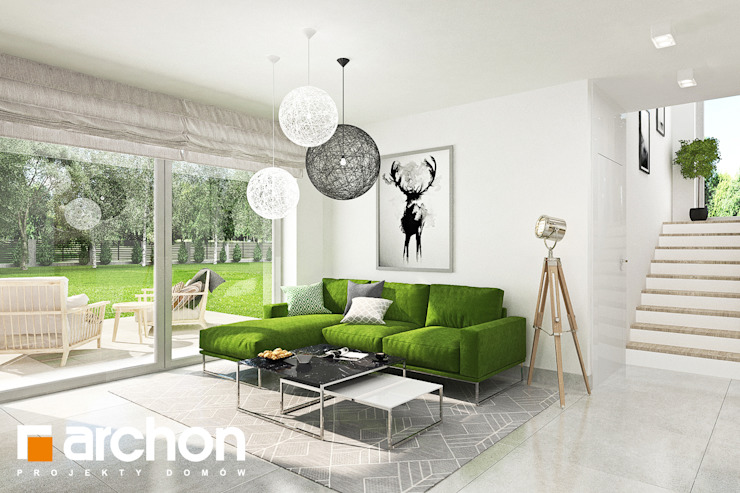 Living room by ARCHON+ PROJEKTY DOMÓW,