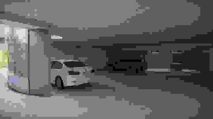 Garajes y galpones de estilo  por HDA: ARQUITECTURA BIOCLIMATICA
