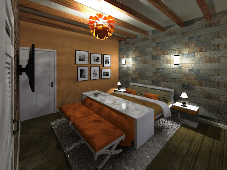 Casa de Campo HC Arquitecto Dormitorios modernos