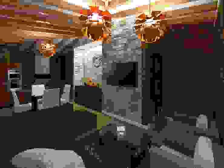 Casa de Campo Salones modernos de HC Arquitecto Moderno