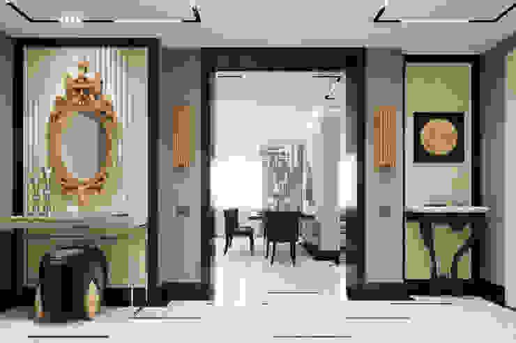 EJ Studio Modern corridor, hallway & stairs