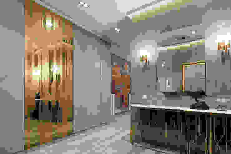 隨意取材風玄關、階梯與走廊 根據 EJ Studio 隨意取材風