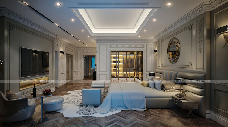 Phòng ngủ: hiện đại  by A&More Architecture, Hiện đại