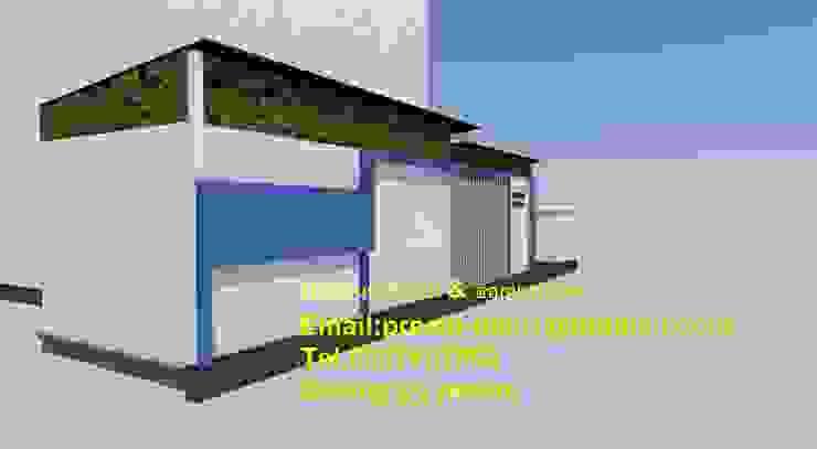 de รับเขียนแบบบ้าน&ออกแบบบ้าน Clásico Hormigón