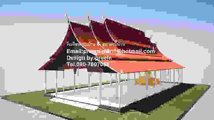 งานออกแบบวัด โดย รับเขียนแบบบ้าน&ออกแบบบ้าน คลาสสิค กระจกและแก้ว