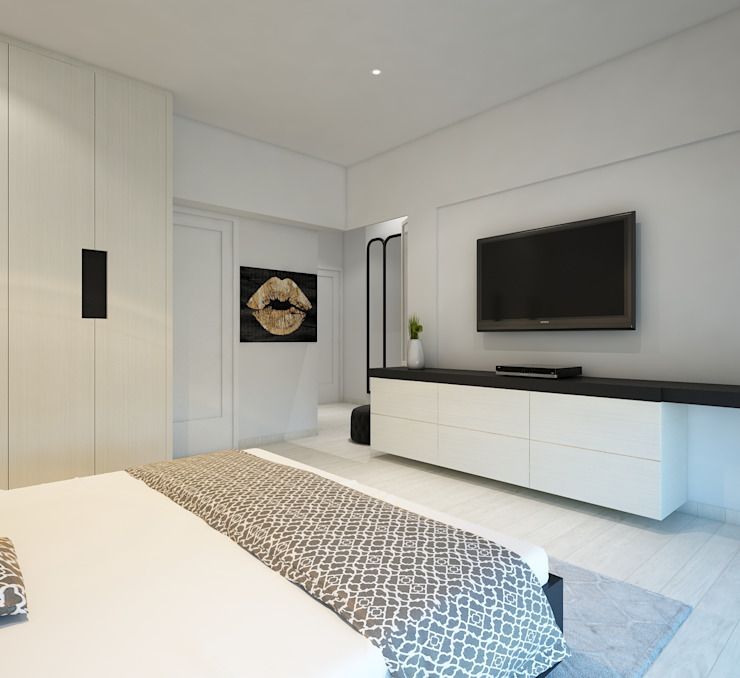 10 NORTH Modern style bedroom by Spaces Alive Modern