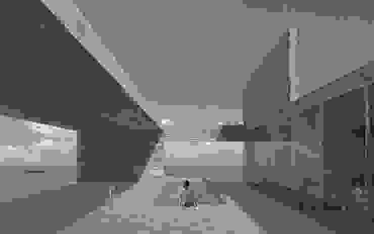 Terraza con piscina Balcones y terrazas modernos de mutarestudio Arquitectura Moderno