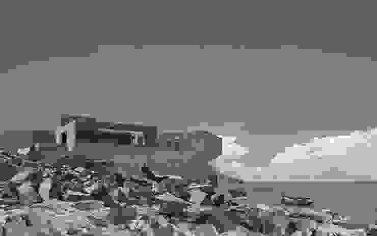 Vista desde la playa Casas estilo moderno: ideas, arquitectura e imágenes de mutarestudio Arquitectura Moderno