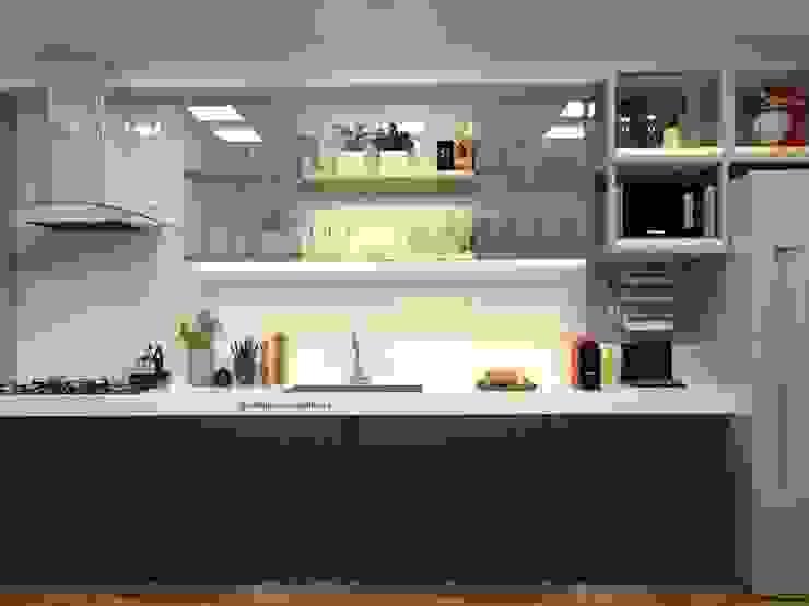 homify Kitchen units White