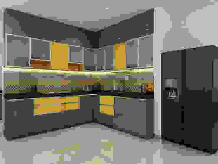 Cocinas de estilo moderno de Spaces Alive Moderno