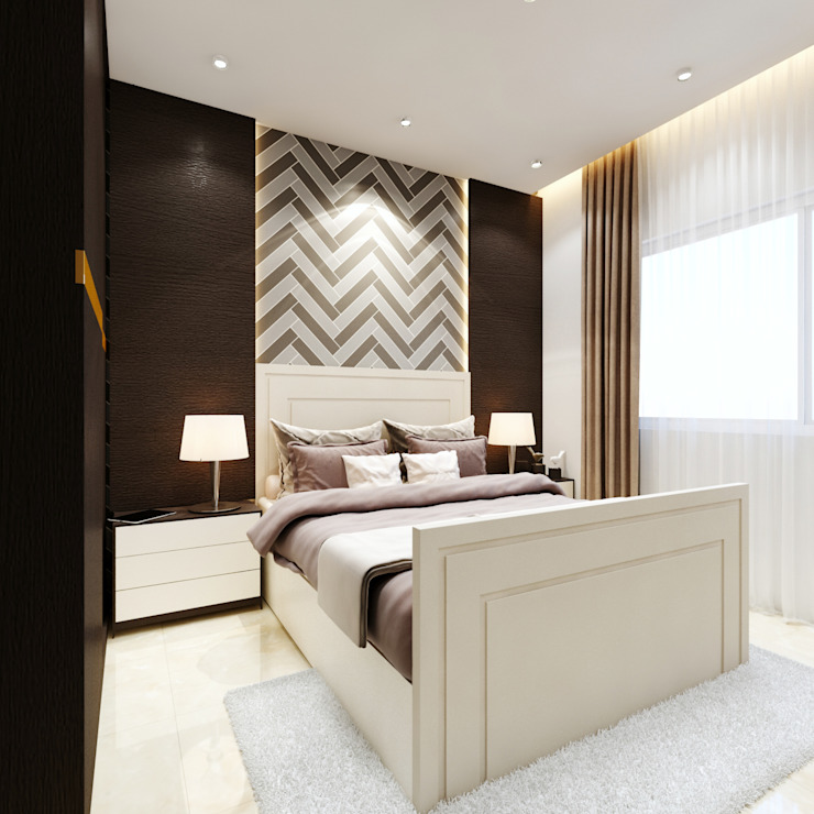 TUSCAN ESTATE Modern style bedroom by Spaces Alive Modern