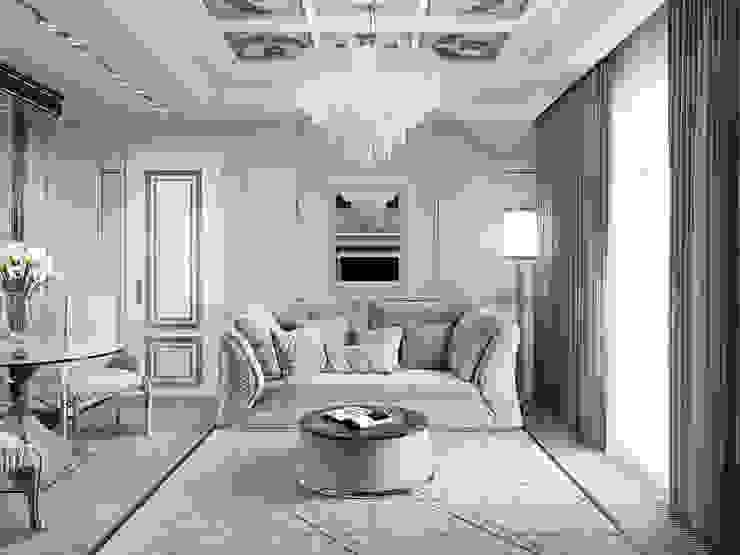 Квартира 59 метров в ЖК Привилегия: Гостиная в . Автор – EJ Studio, Модерн