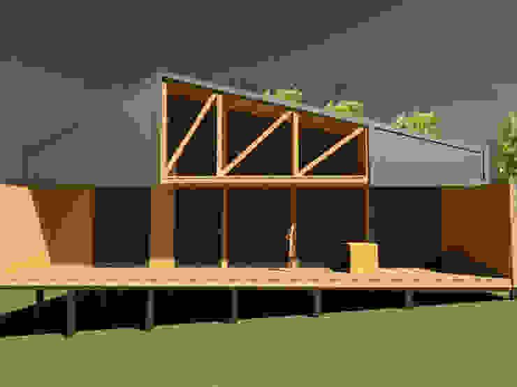 casa Quimera : Casas de madera de estilo  por ARCHIMINIMAL ESTUDIO,