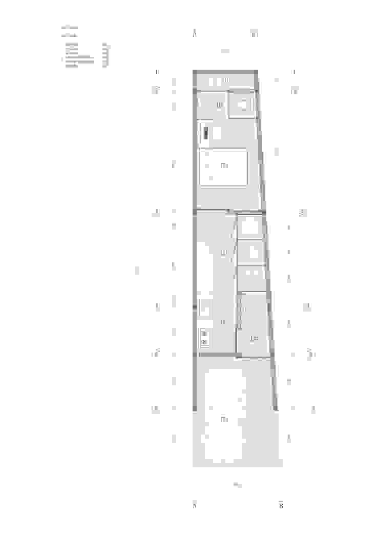 Denah lantai 1:modern  oleh studio moyn, Modern