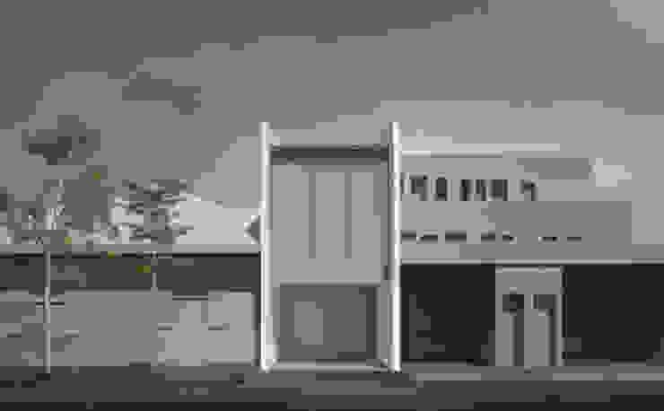 Tampak depan AS-house (tertutup):modern  oleh studio moyn, Modern