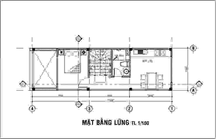 Mẫu Nhà 1 Trệt 3 Lầu Sân Thượng Trên Diện Tích 40m2 Giá 1,16 Tỷ Nhà phong cách châu Á bởi Công ty Thiết Kế Xây Dựng Song Phát Châu Á