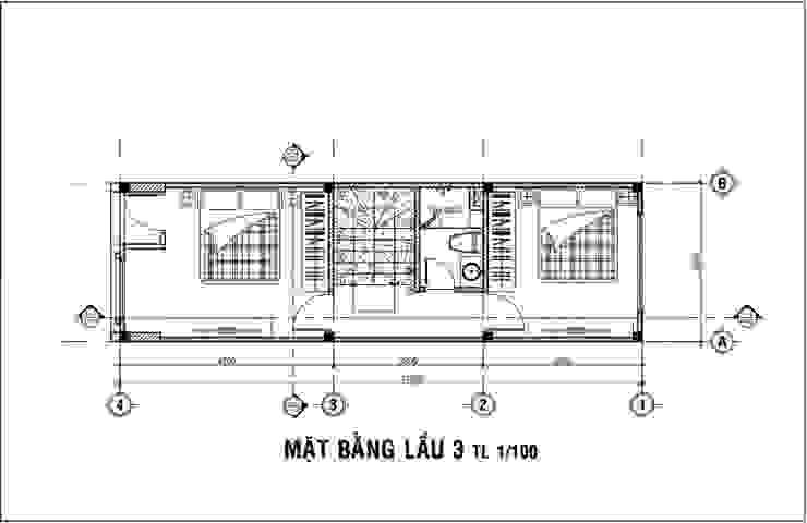 Mẫu Nhà 1 Trệt 3 Lầu Sân Thượng Trên Diện Tích 40m2 Giá 1,16 Tỷ bởi Công ty Thiết Kế Xây Dựng Song Phát Châu Á
