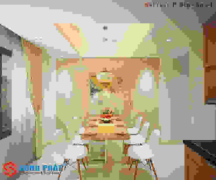 Mẫu Nhà 1 Trệt 3 Lầu Sân Thượng Trên Diện Tích 40m2 Giá 1,16 Tỷ Nhà bếp phong cách châu Á bởi Công ty Thiết Kế Xây Dựng Song Phát Châu Á