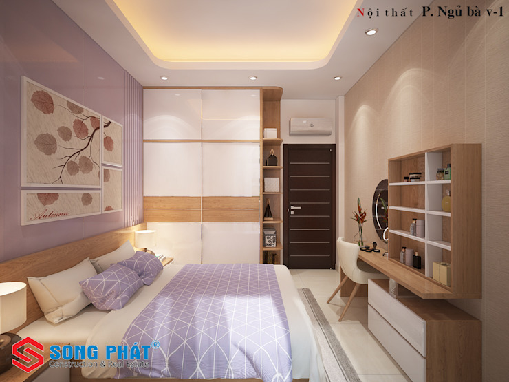 Asian style bedroom by Công ty Thiết Kế Xây Dựng Song Phát Asian