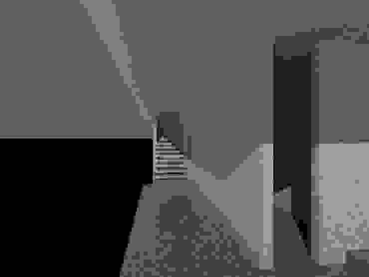 Tangga menuju lantai atas Oleh studio moyn