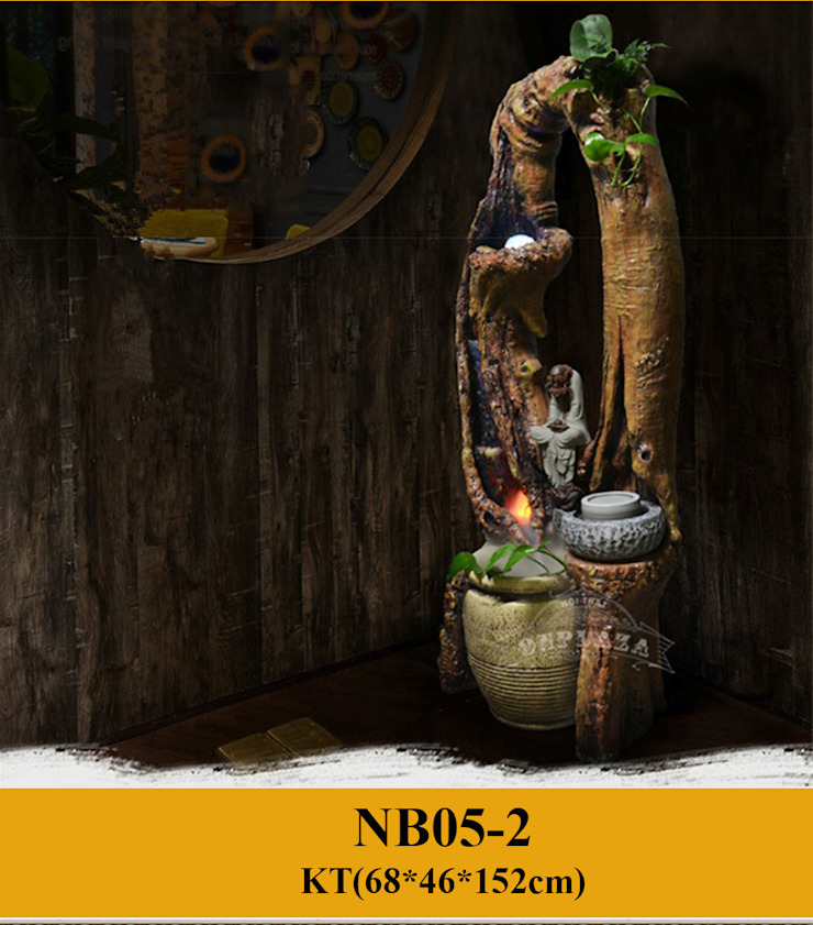 Tiểu Cảnh Nghệ Thuật Với Chum Nước Phong Thủy Nhỏ NB05-2: Quốc gia  by Công Ty Thi Công Và Thiết Kế Tiểu Cảnh Non Bộ, Đồng quê