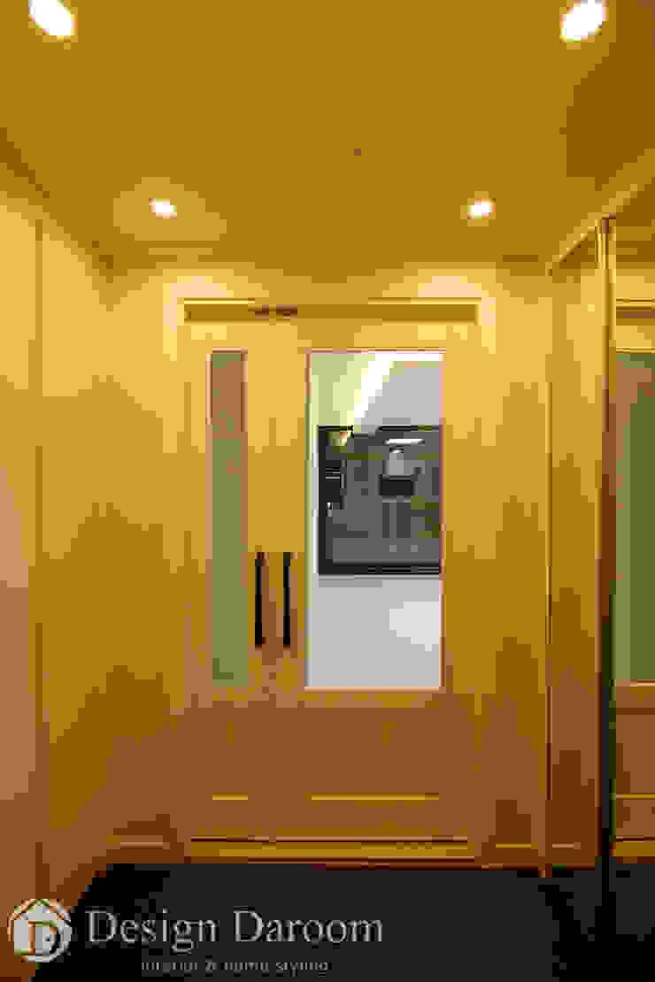 인창동 원일가대라곡 25py 현관 모던스타일 복도, 현관 & 계단 by Design Daroom 디자인다룸 모던