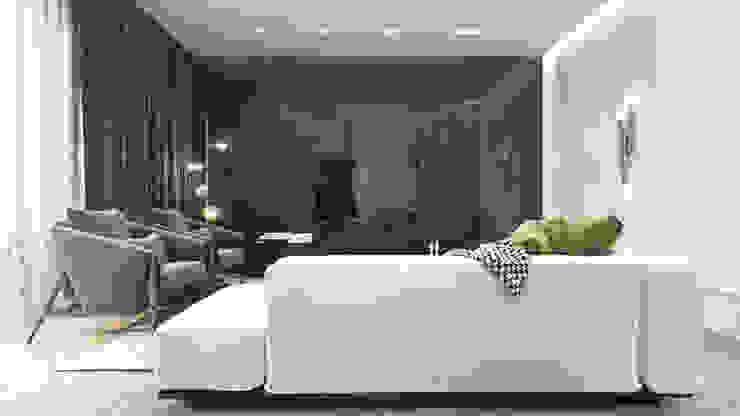 Luksusowy apartament dla singla Ambience. Interior Design Nowoczesny salon