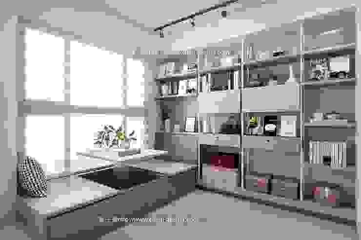 桃園黃宅 Modern style study/office by 鼎士達室內裝修企劃 Modern Metal