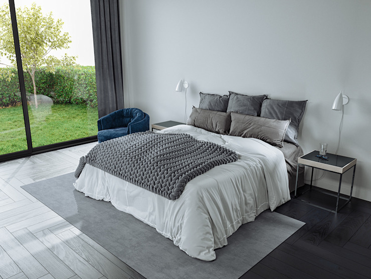Nottingham NG11 by A33SOME A33SOME CGI Studio Modern style bedroom