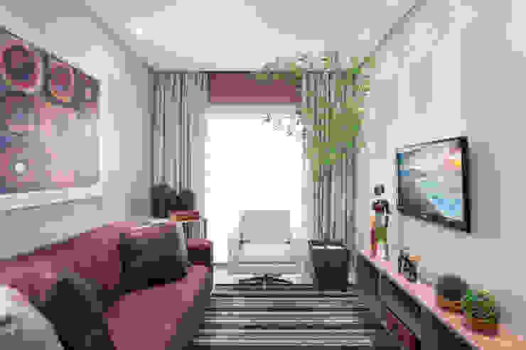 Sala de estar e TV Salas de estar rústicas por homify Rústico