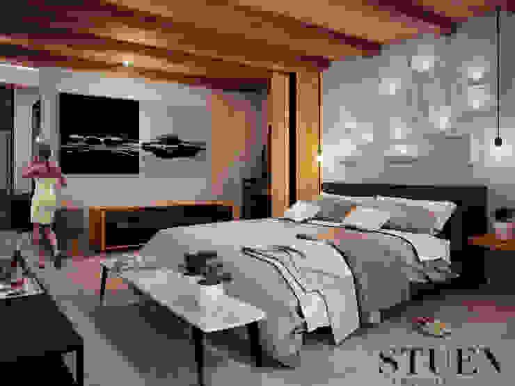 Recamara Cuartos de estilo ecléctico de Stuen Arquitectos Ecléctico Madera Acabado en madera