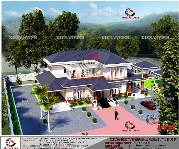 mẫu thiết kế nhà vườn đẹp bởi cong ty thiet ke xay dung biet thu dep hcm