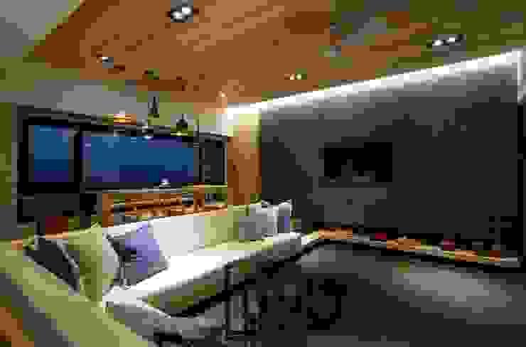 新北市 H宅 现代客厅設計點子、靈感 & 圖片 根據 敘述室內裝修設計有限公司 現代風