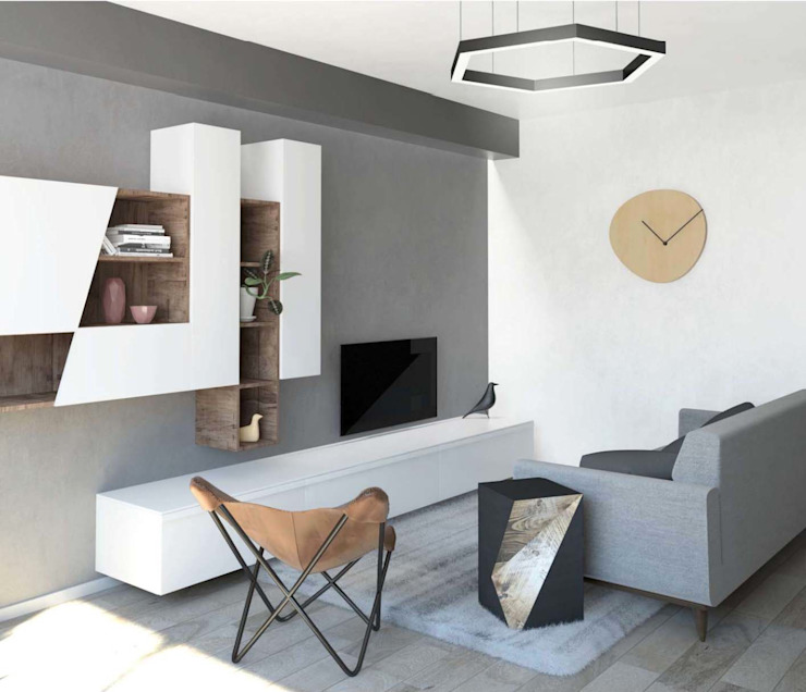Living room by interiorbe SRL, Scandinavian