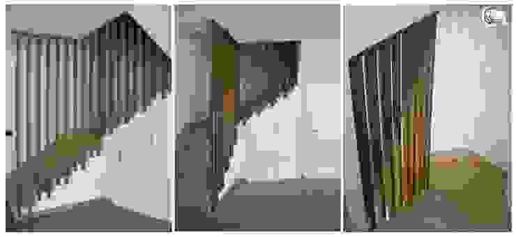 Couloir, entrée, escaliers minimalistes par Almacén de Carpintería Gómez Minimaliste
