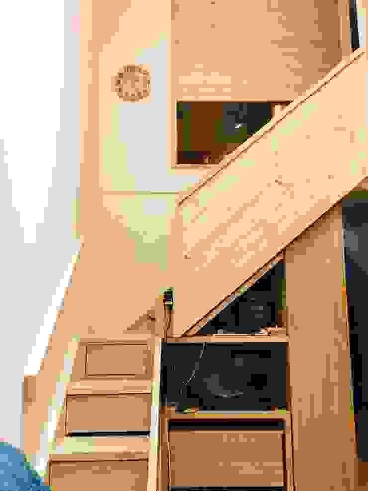 樓梯收納 圓方空間設計 樓梯 合板 Wood effect