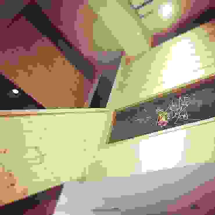 走廊畫室 圓方空間設計 走廊 & 玄關 合板 Wood effect