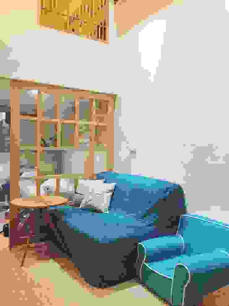 客廳 圓方空間設計 客廳 合板 Wood effect