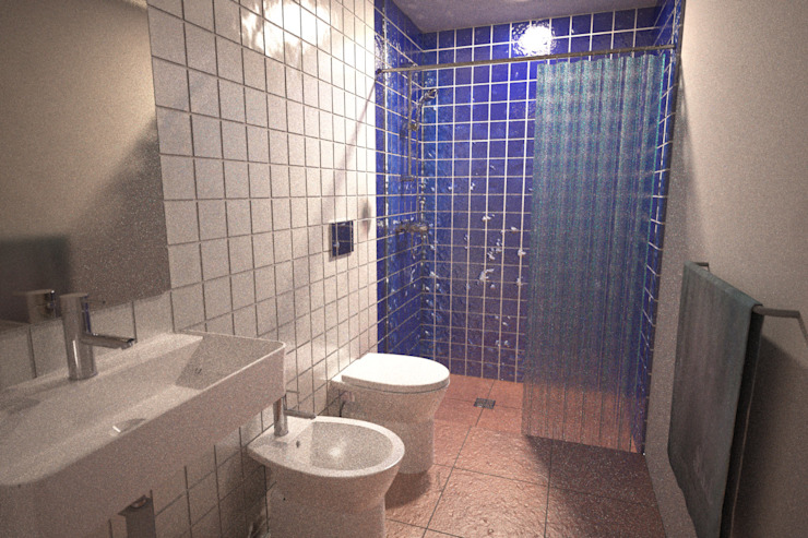 Bathroom by André Pintão, Country Tiles
