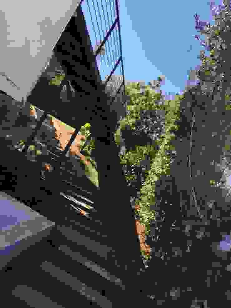 Jardín exterior con pasteles de hormigón de Arqsol Moderno