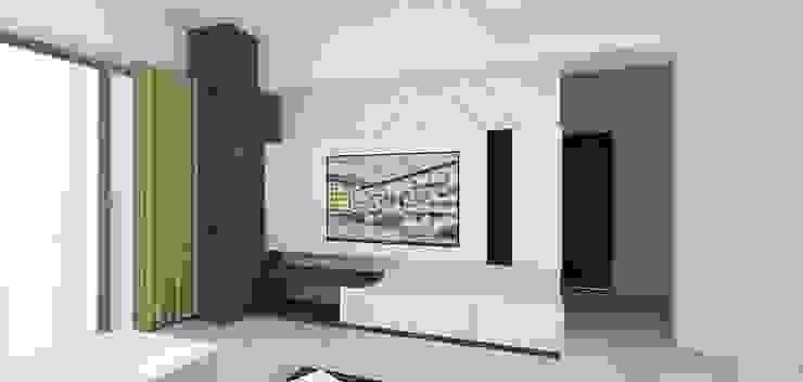 客廳3D圖呈現 by 圓方空間設計