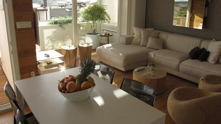 Piccolo attico open space Sala da pranzo moderna di FRANCESCO CARDANO Interior designer Moderno
