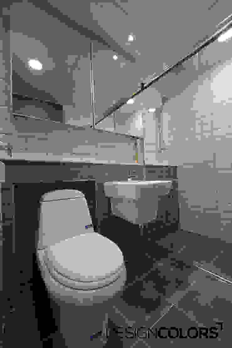 용산구 이촌동 강촌아파트 모던스타일 욕실 by DESIGNCOLORS 모던