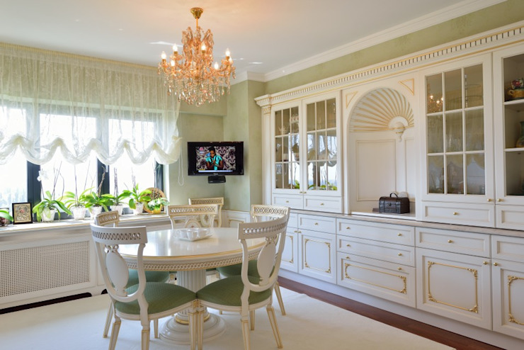 Cucina classica Turati Boiseries Cucina attrezzata Legno Bianco